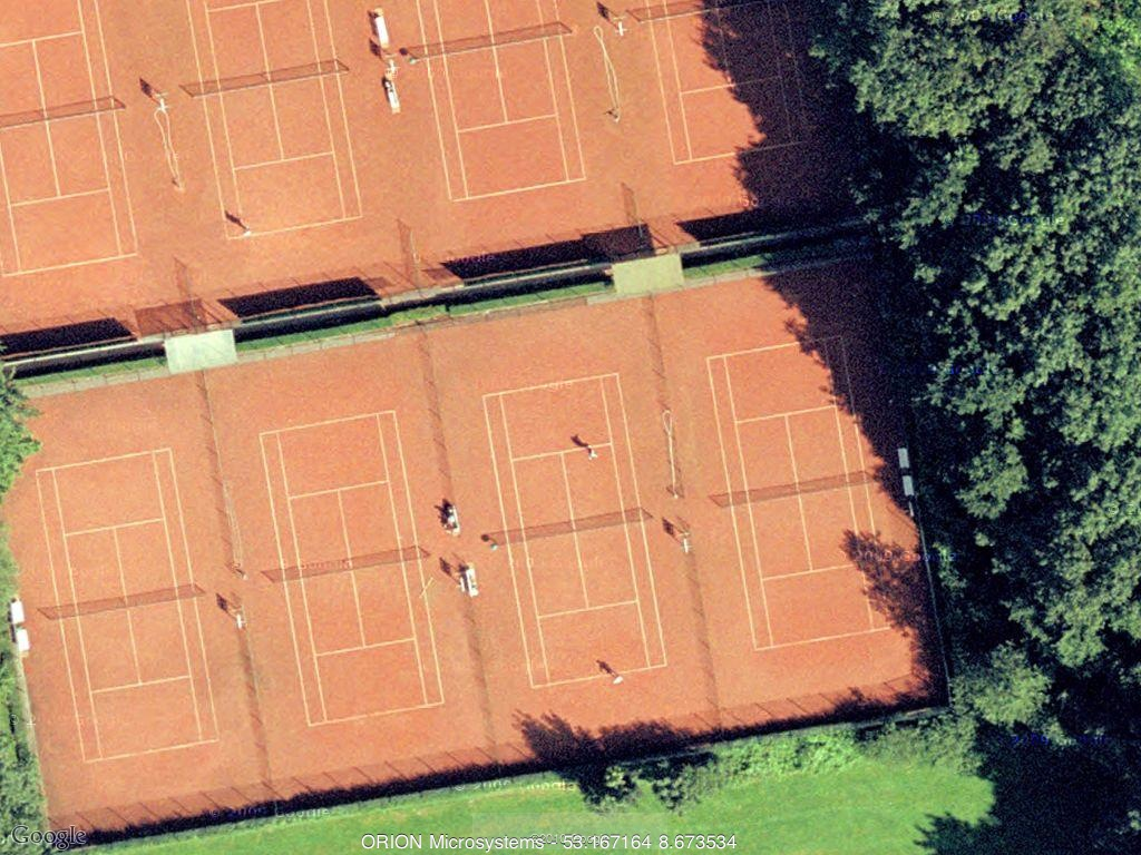 People playing tennis in Germany
